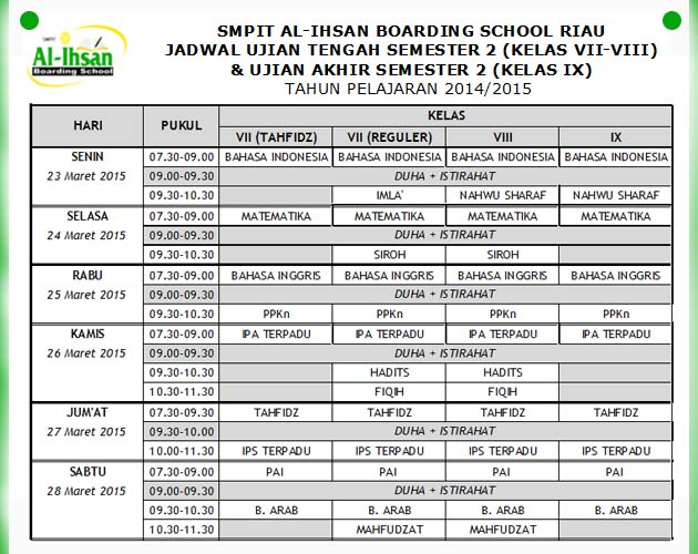 jadwal lengkap